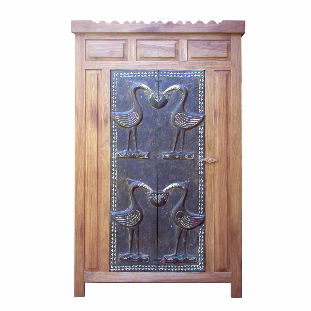 Les Armoires En Bois se rapportant à les armoires, buffets & commodes /portes traditionnelles d'afrique