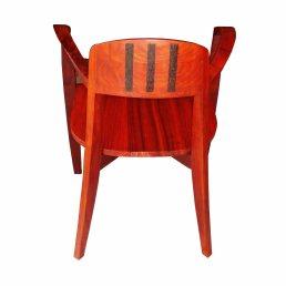 chaise sahélia en bois sapéli et barettes de ronier au dos