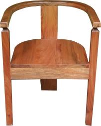 fauteuil popenguine en bois sapéli
