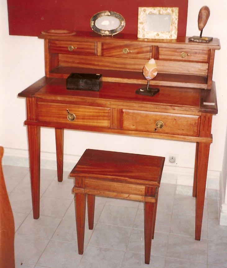 bureau old england, bois sapéli