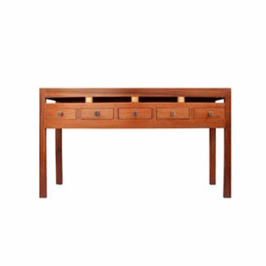 bureau st louis en bois bété et bronze