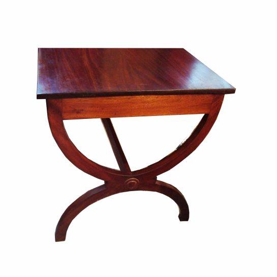 bureau anglais en bois sapéli teinté