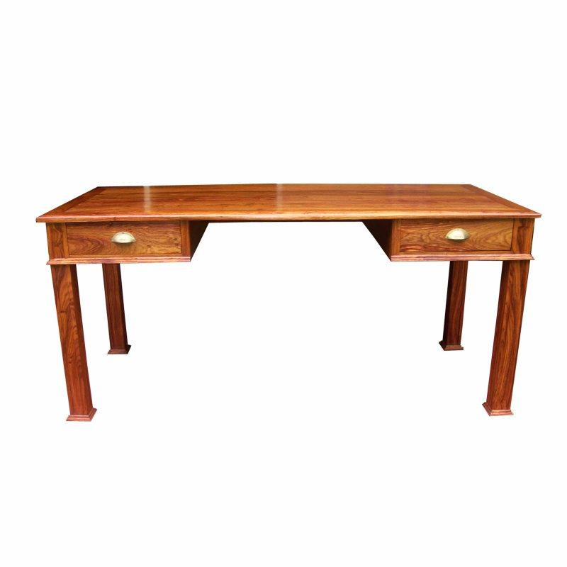 bureau boolo en bois de veine, 2 tiroirs