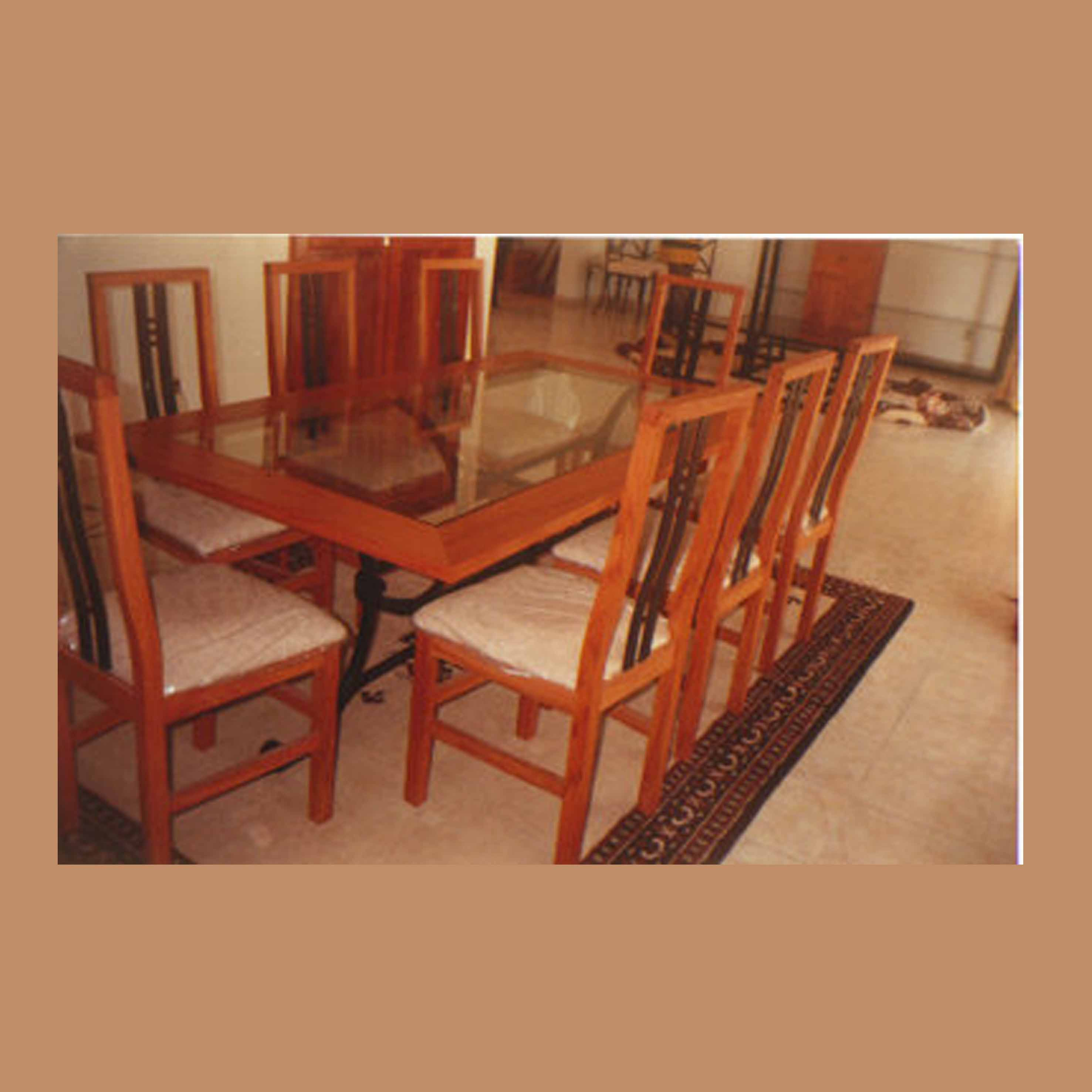 table fer et bois yves, chaises yves