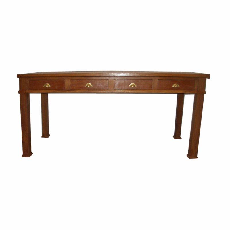 bureau boolo en bois de veine 4 tiroirs