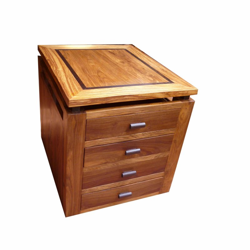 caisson du bureau yacine en bois de veine et wengué