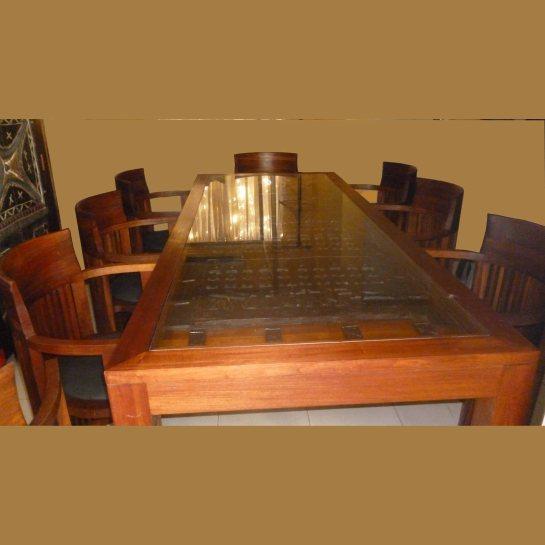 table dogon et fauteuils barrel