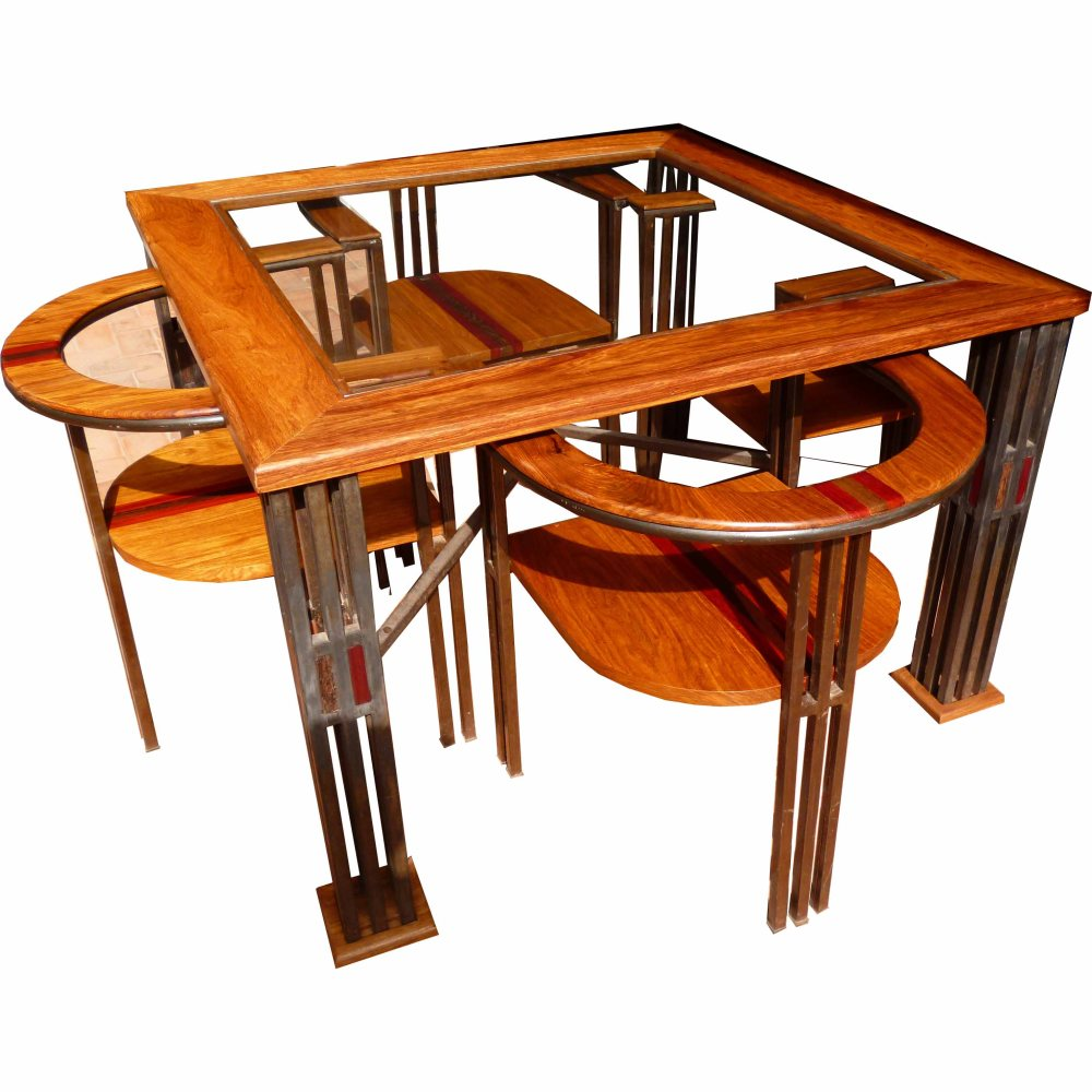 table conakry et fauteuils pikine