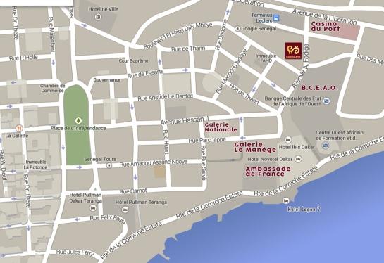 plan d'accès à la galerie Arte