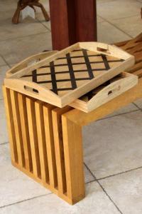 bassari, marqueterie de bois précieux