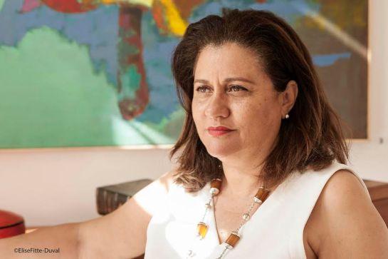 Joelle Le Bussy, designer meuble, directrice de la galerie Arte a Dakar.